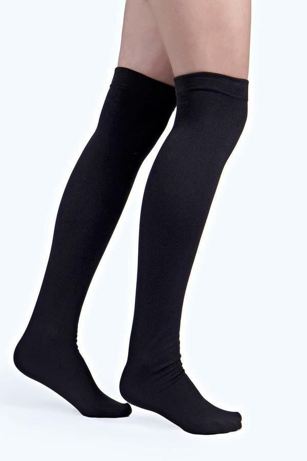 Boohoo Tori Thermal Thigh High Socks ($5)