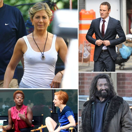 Jennifer Aniston, Hugh Jackman, Michael Fassbender, and More Stars on Set