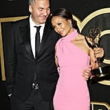 Thandie Newton and Ol Parker at the HBO Emmy Party, 2018