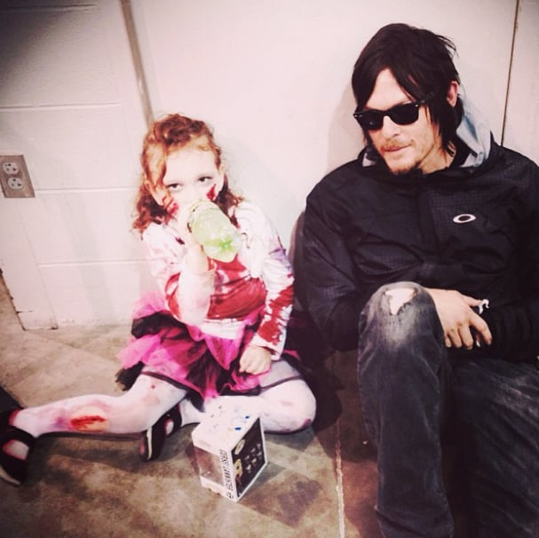 When He Chilled With a Zombiefied Young Fan