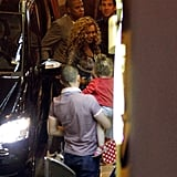 Beyonce Knowles and Jay-Z went to dinner.