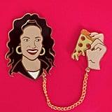 Selena Loves Pizza Pin