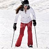 Kate Middleton got serious on skis during a vacation to France.