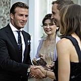 David Beckham at royal reception in LA.