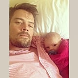 Josh Duhamel introduced baby Axl to the world of football over the weekend. Source: Instagram user joshduhamel
