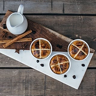 Easter Hot Cross Bun Bread and Butter Pudding Recipe