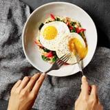 Savory Oatmeal With Garlic Sautéed Kale, Peppers, and an Egg