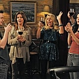 Busy Philipps, Christa Miller, Courteney Cox, Dan Byrd, and Brian Van Holt on Cougar Town. Photo copyright 2012 ABC, Inc.