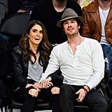 On Sunday, Ian Somerhalder and Nikki Reed went to a Lakers game in LA.