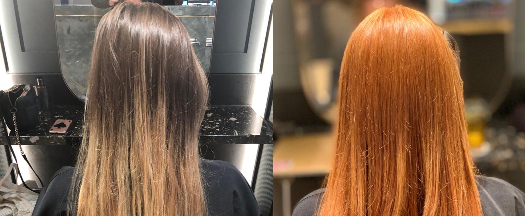 Copper Hair Dye Process