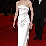 Nicole wearing a satin strapless dress at the Orange British Academy Film Awards in 2003.