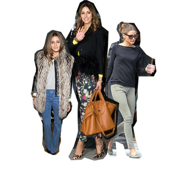 Olivia Palermo's Denim Style File: Floral, Coated, Coloured, Flared and Skinny - Snoop Her Celebrity Jeans Collection