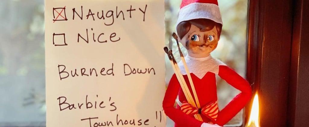 "Halle Berry's ""Naughty"" Elf on the Shelf Instagram Photos"