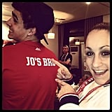 Jordyn Wieber showed off her brother's t-shirt. Source: Instagram user jordyn_wieber