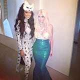Kim Kardashian and Lala dressed up together.  Source: Instagram user kimkardashian
