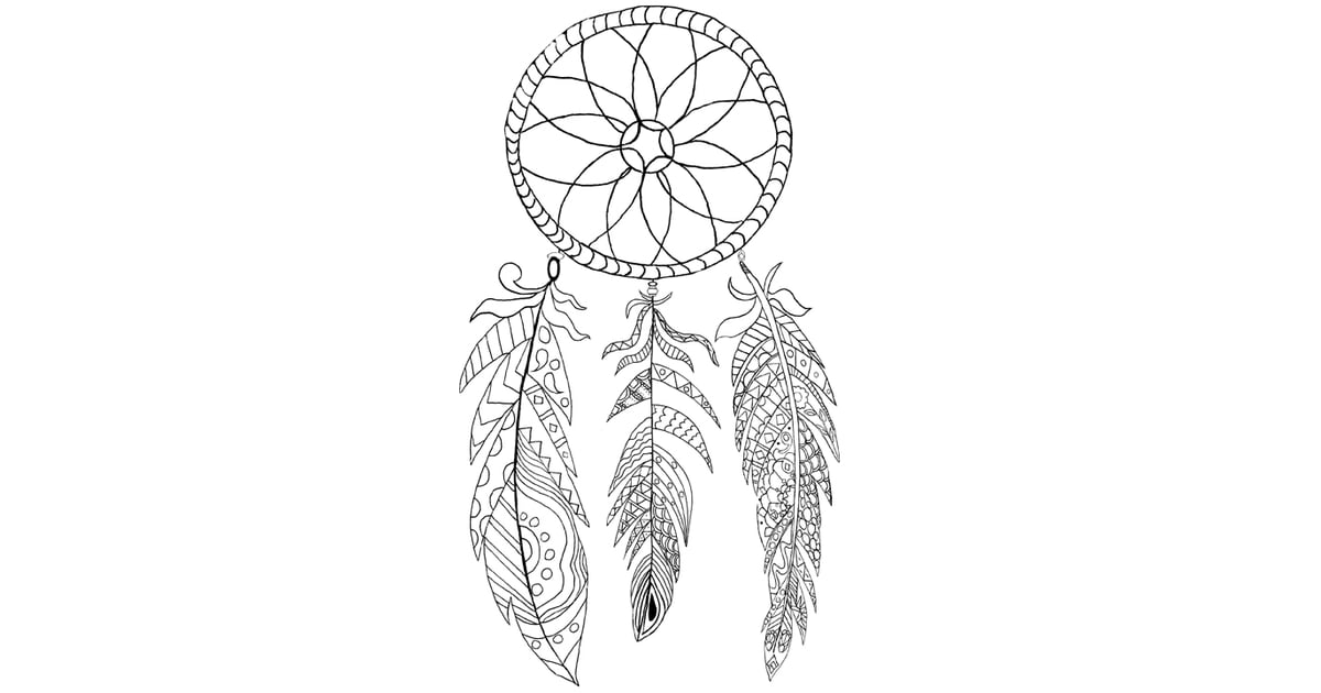 Get the colouring page: Dreamcatcher | Free Colouring ...