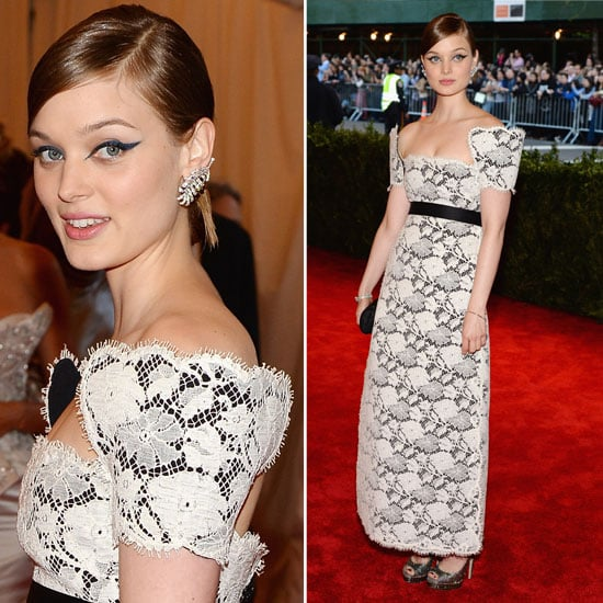Pictures of Bella Heathcote in Chanel at 2013 Met Gala Ball