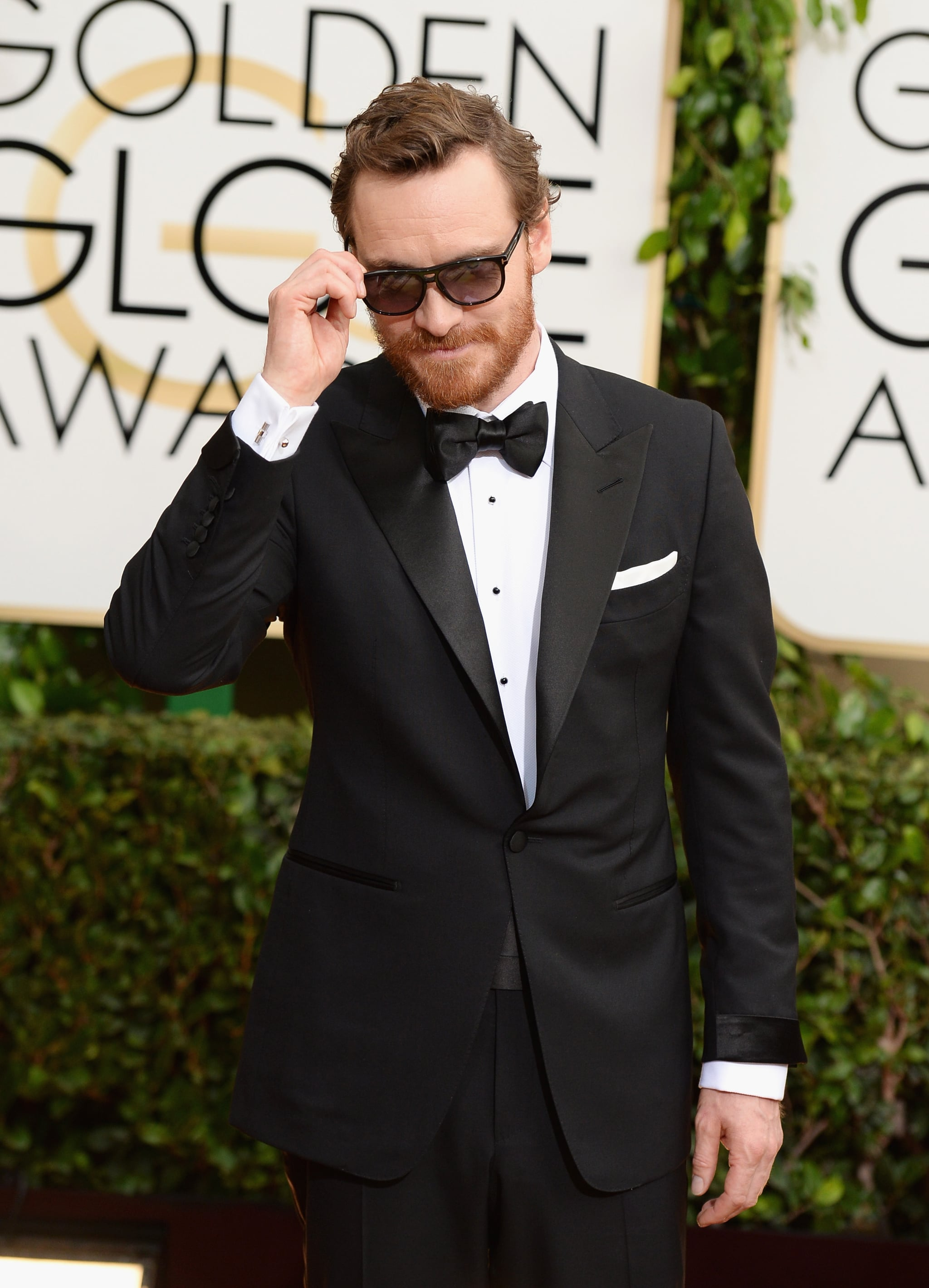 7. Michael Fassbender Shows Up at the Golden Globes