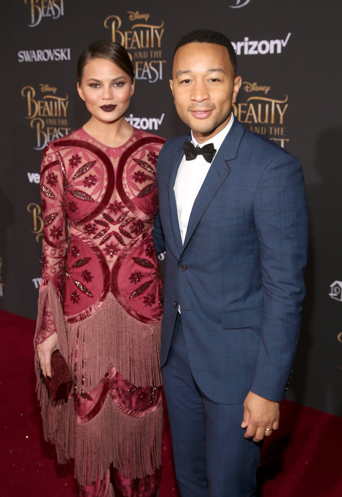 John Legend and Chrissy Teigen Beauty and the Beast Premiere