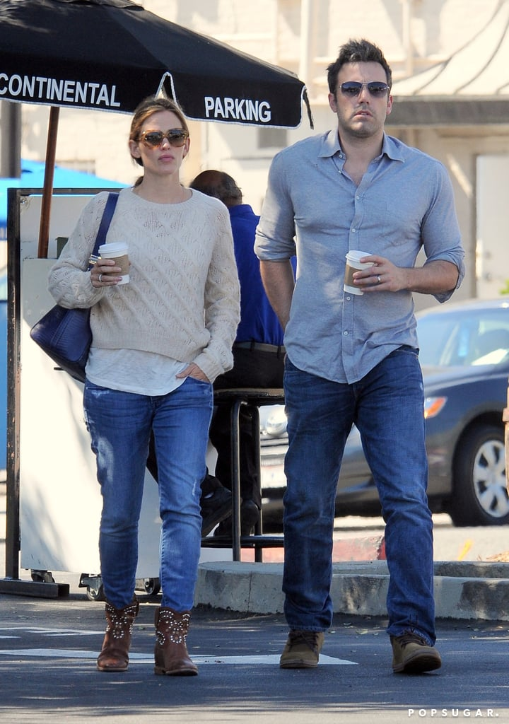 Ben Affleck and Jennifer Garner left an LA restaurant.