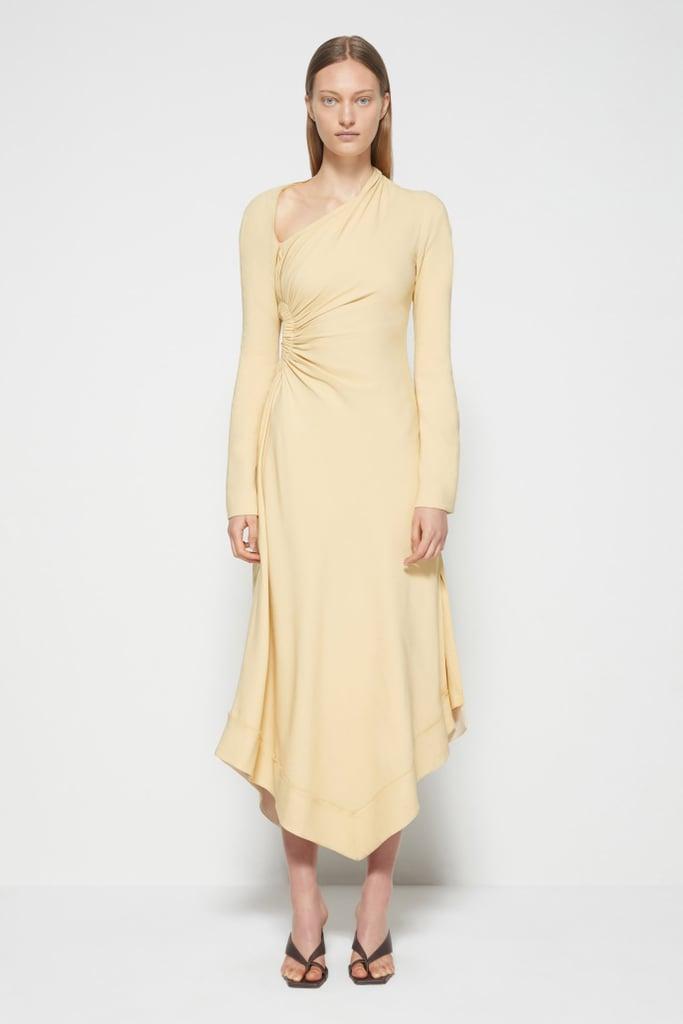 Jonathan Simkhai Christie Draped Cutout Dress