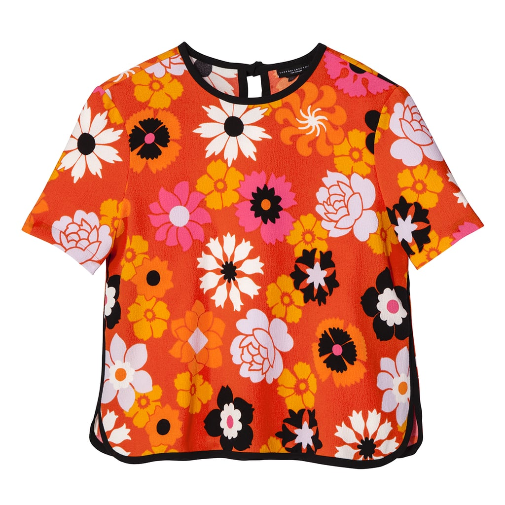 Retro Floral Pebble Crepe Top ($26)