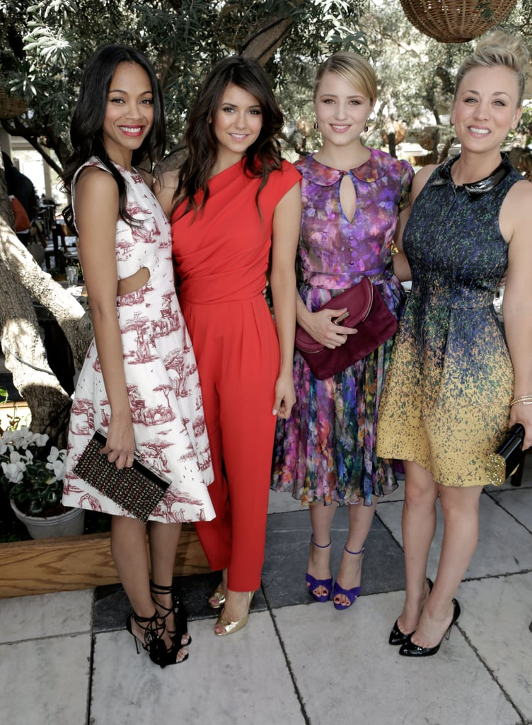 Zoe Saldana and Nina Dobrev linked up with Dianna Agron and Kaley Cuoco at The Hollywood Reporter's 25 Most Powerful Stylists Luncheon in LA.