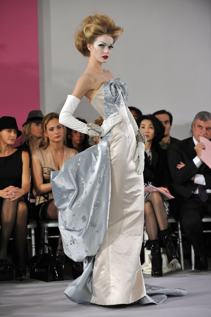 John Galliano Takes a Riding Crop to Spring 2010 Dior Couture, While Tavi's Giant Bow Grabs Some of the Attention