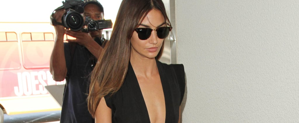 Lily Aldridge Just Wore the Sexiest Airport Outfit, Possibly Ever