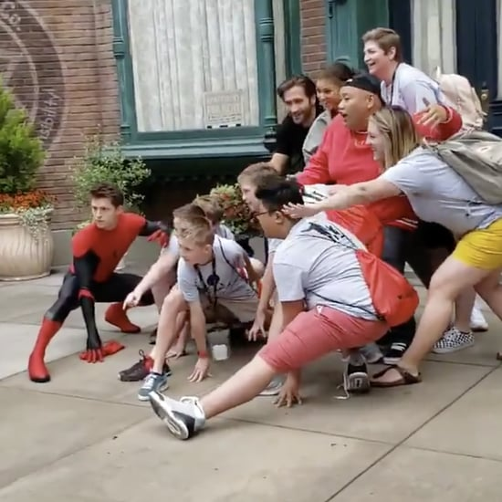 Spider-Man Cast Surprising Fans at Disneyland Video May 2019