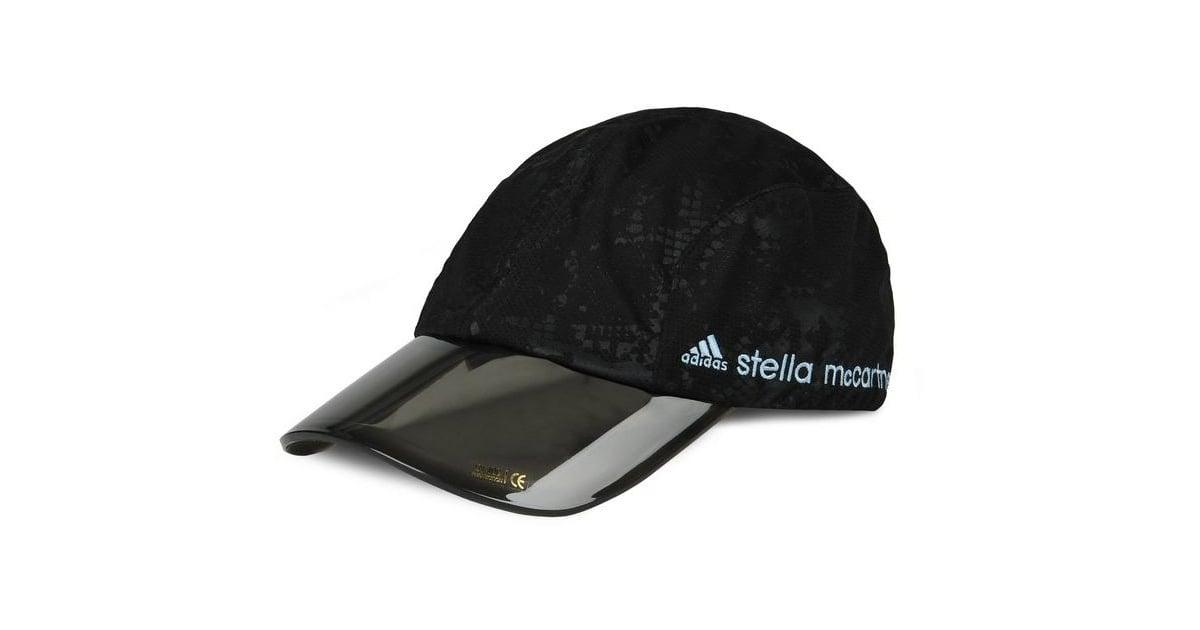 adidas by Stella McCartney Stella McCartney Black Printed Run Cap ... 3a91bede584b