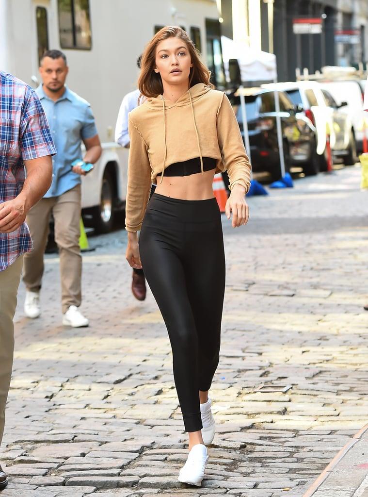 0d96a6cbb0 Gigi Hadid Wearing Leggings | POPSUGAR Fashion