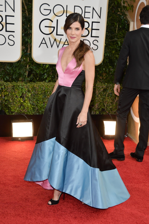 Sandra Bullock in Prabal Gurung at the Golden Globes