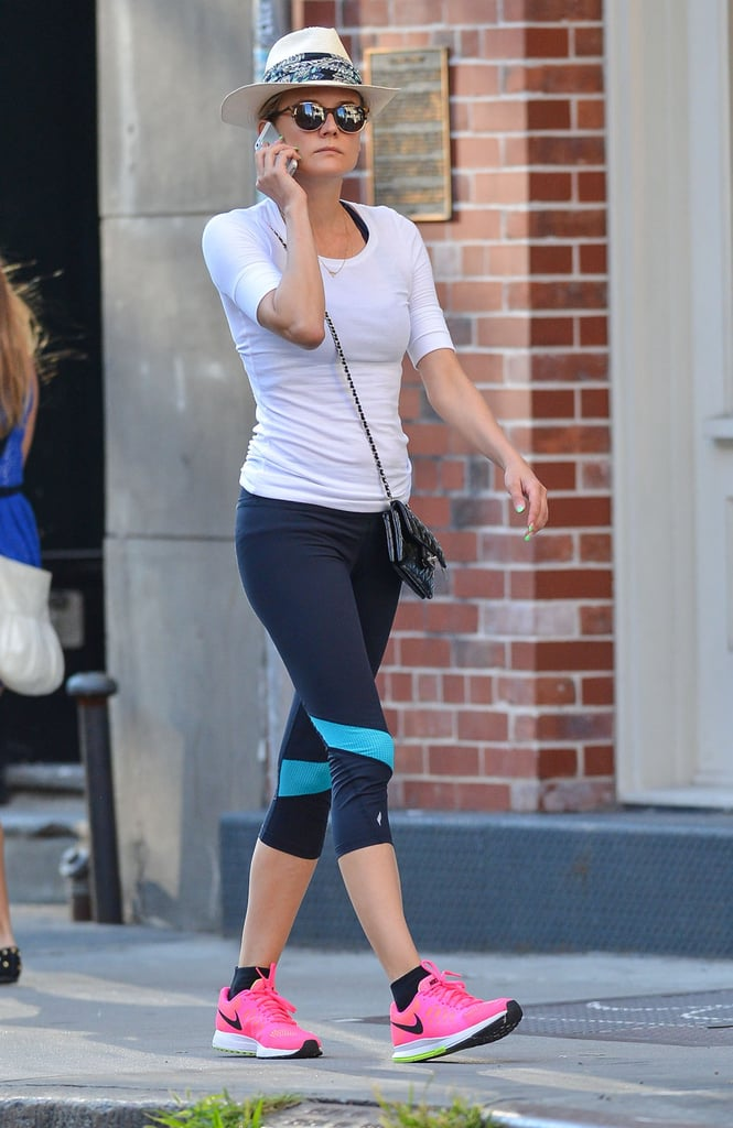 Diane Kruger left an NYC gym on Monday.