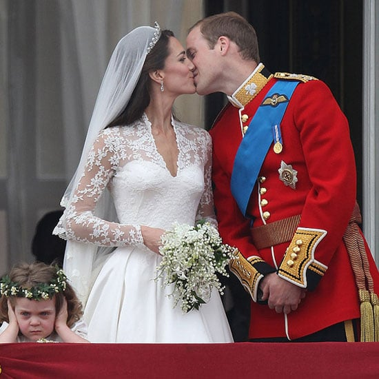 Kate Middleton and Prince William took to the balcony of Buckingham Palace for their first public kiss following their grand Westminster Abbey ceremony in April 2011.