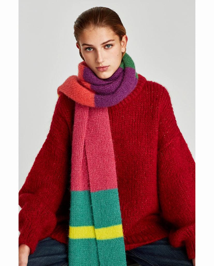 Zara Multicolored Soft Scarf