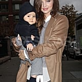 Miranda Kerr carried her son on an outing in NYC.