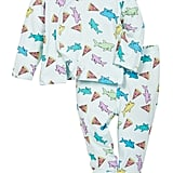 Rosie Pope Pizza Shark Kimono Top and Footed Pants Set