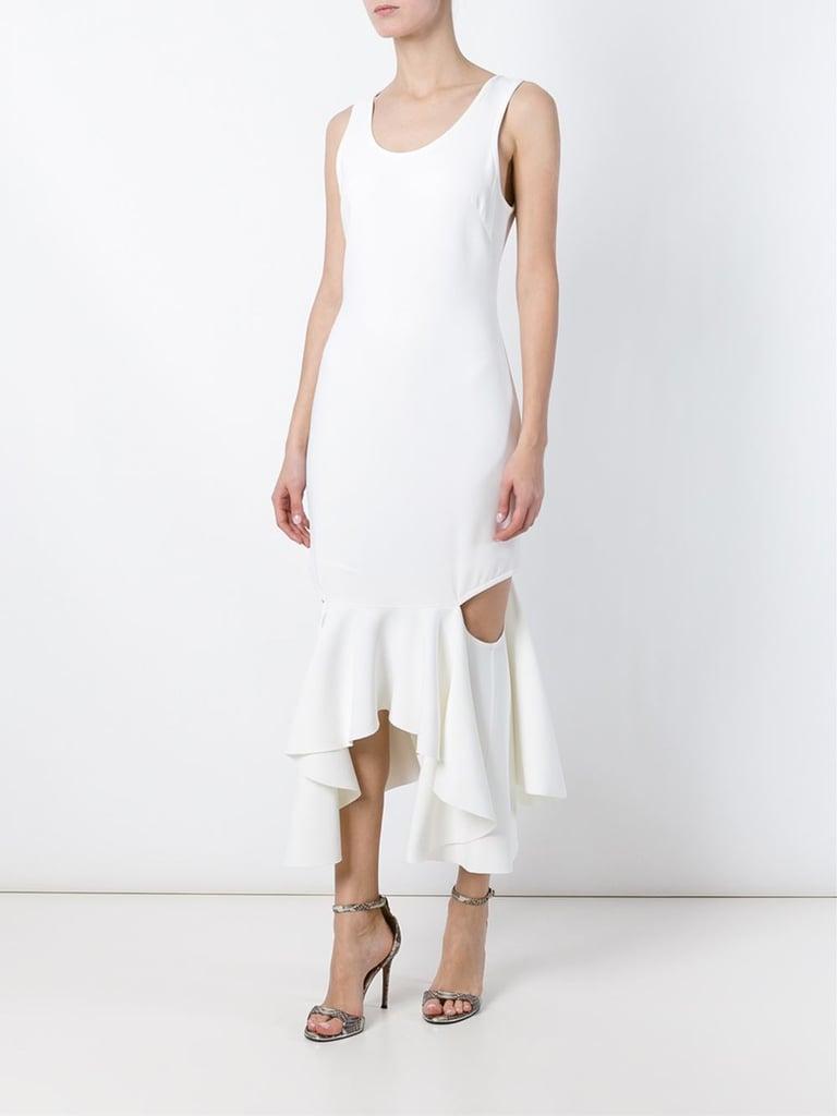 Givenchy Cutout Ruffle Hem Sleeveless Dress ($4,345)