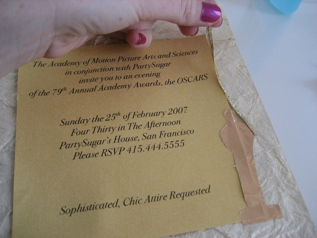 Come Party With Me: Oscars Viewing - Invites
