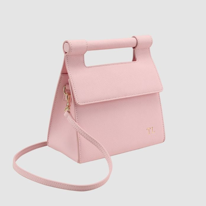 Pastel Pink Handle Shoulder Bag by The Daily Edited