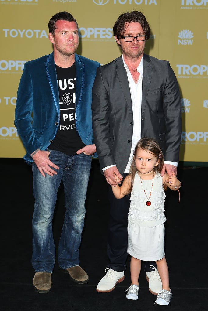 Sam Worthington, John and Harper Polson