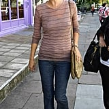 """Kate single-handedly made flared jeans stylish again when she started wearing them around London. J Brand """"Love Story"""" were rumoured to be her favourite pair."""