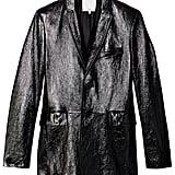 Tibi Leather Blazer in Black