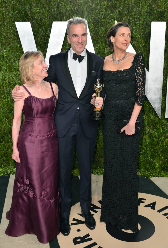 Daniel Day-Lewis and his wife, Rebecca Miller, caught up with historian Doris Kearns Goodwin, who wrote the book Team of Rivals, which inspired Lincoln.