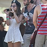 Penn Badgley attended the second weekend of Coachella with friends.