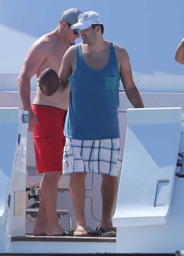 Tony Romo hung out on a boat in Mexico on Monday.