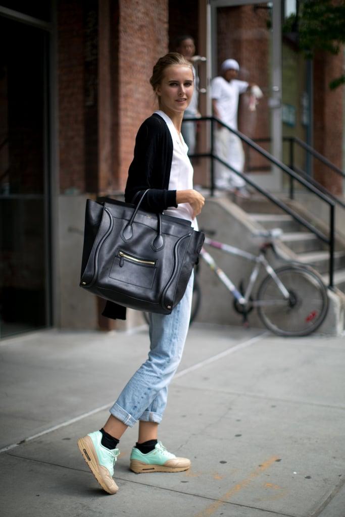 4c17f5c0b1 Model Street Style at NY Fashion Week Spring 2014