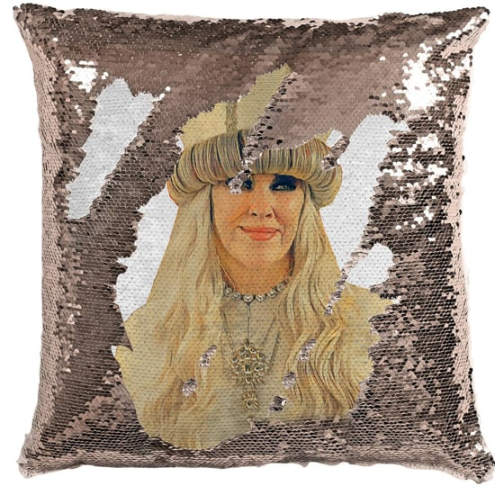 Schitt's Creek Moira Rose Pope Sequined Pillow | Etsy