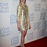 Anne wore sequinned Oscar de la Renta at the Love & Other Drugs premiere in Sydney in 2010.